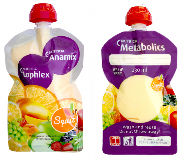 Nyhet! Nutricia Metabolic Squiz-påse